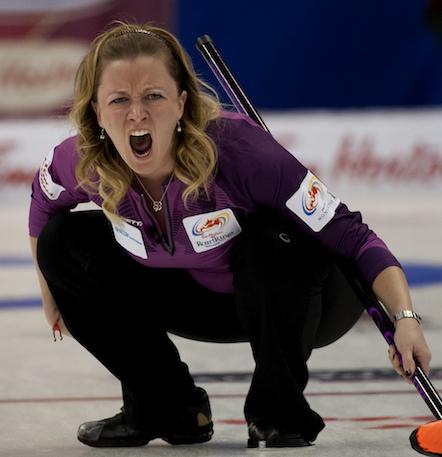 Chelsea Carey, de Winnipeg, a subi une défaite décevante à Stefanie Lawton mardi après-midi. (Photo, ACC / Michael Burns)