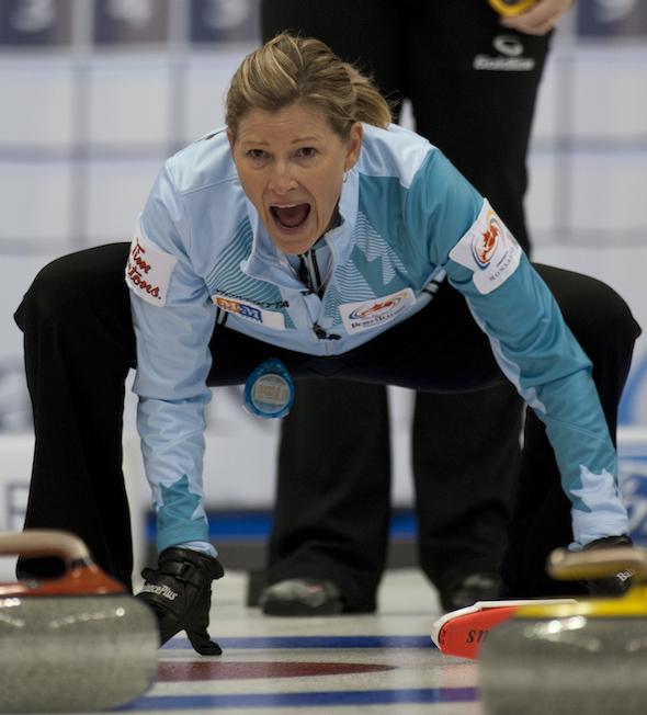 Sherry Middaugh de Coldwater, en Ontario., est encore vivant dans son offre pour une place dans les Jeux olympiques de 2014. (Photo, ACC / Michael Burns)