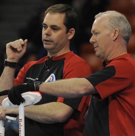 Richart Hart, left, has been reunited with his longtime skip Glenn Howard. (Photo, CCA/Michael Burns)