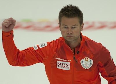 Winnipeg's Mike McEwen. (Photo, CCA/Michael Burns)