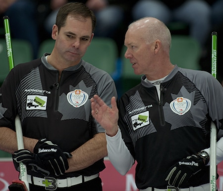 Richard Hart, left, and Glenn Howard ponder their options. (Photos, CCA/Michael Burns)