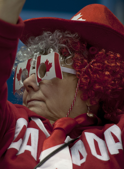 The fans were showing off their Canadian pride on Tuesday. (Photo, CCA/Michael Burns)