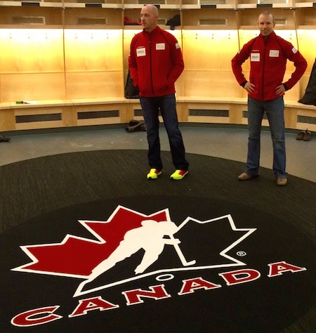We were fortunate enough to be able to use Hockey Canada's main dressing-room.