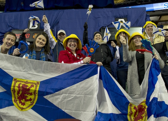 Nova Scotia fans were out in force on Friday morning! (Photo, Curling Canada/Michael Burns)