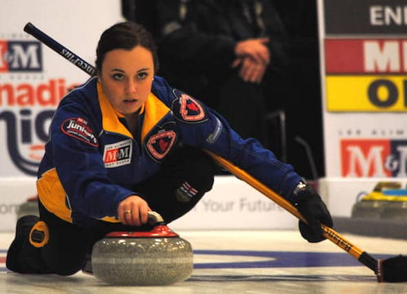 Alberta's Kelsey Rocque and her team from Edmonton are off to a 3-0 start at the 2015 M&M Meat Shops Canadian Juniors. (Photo, Amanda Rumboldt)