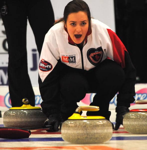 Ontario skip Chelsea Brandwood and her team from Hamilton picked up a big win over B.C. on Thursday. (Photo, Amanda Rumboldt)