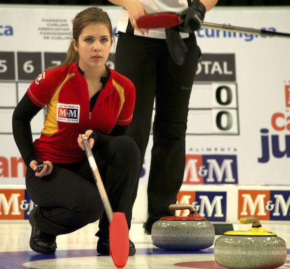 Nunavut's Sadie Pinksen is competing at her third M&M Meat Shops Canadian Juniors. (Photo, Amanda Rumboldt)
