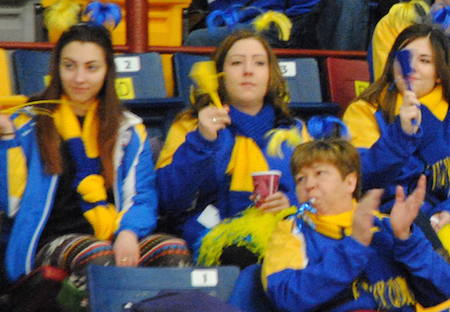 Alberta fans were out in force on Thursday. (Photo, Amanda Rumboldt)