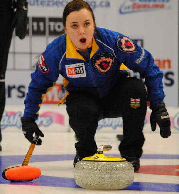 Alberta skip Kelsey Rocque has her team in Saturday's gold-medal game. (Photo, Amanda Rumboldt)