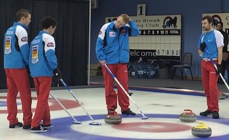 Team Quebec discusses its options.