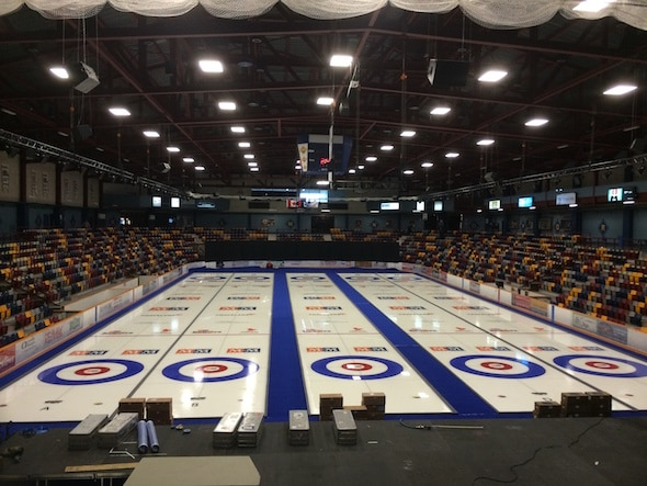 The Corner Brook Civic Centre, host of the 2015 M&M Meat Shops Canadian Junior Curling Championships.