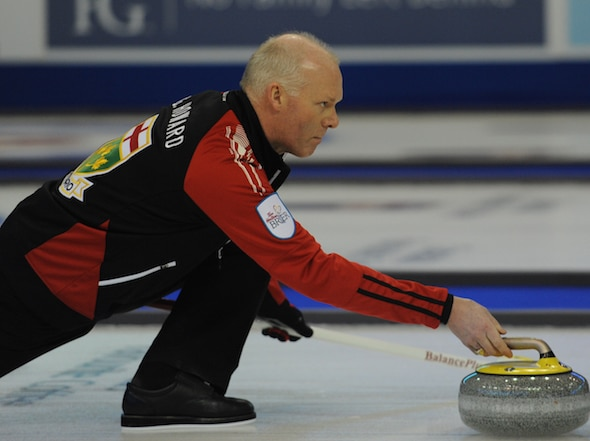 Glenn Howard will be playing with daughter Carly at the 2015 Canadian Mixed Doubles Trials. (Photo, Curling Canada/Michael Burns)