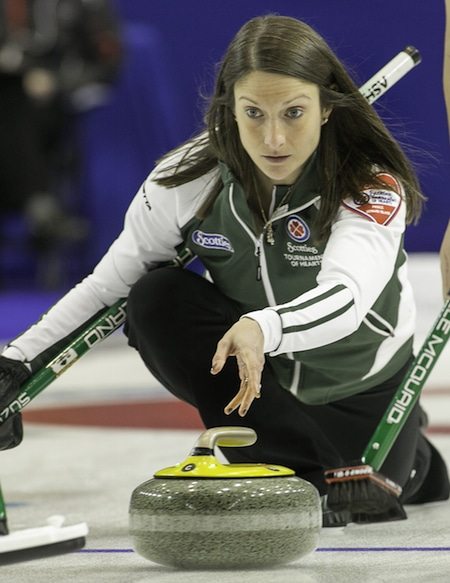 Prince Edward Island skip Suzanne Gaudet picked up a crucial win on Tuesday. (Photo, CCA/Andrew Klaver)