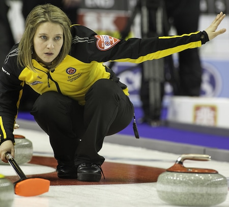 New Brunswick's Sylvie Robichaud picked up her first win on Tuesday night. (Photo, CCA/Andrew Klaver)