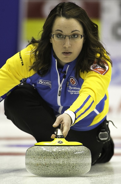 Alberta's Val Sweeting has her team alone in first place with a 7-0 record. (Photo, CCA/Andrew Klaver)