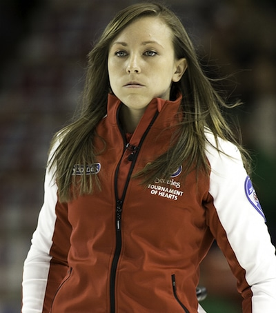 Team Canada skip Rachel Homan and her team from Ottawa have been knocked out of gold-medal contention at the Scotties. (Photo, CCA/Andrew Klaver)
