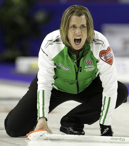 Saskatchewan skip Stefanie Lawton will play for bronze on Sunday. (Photo, CCA/