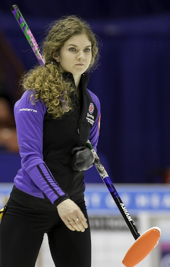 Yukon skip Sarah Koltun. (Photo, CCA/Michael Burns)