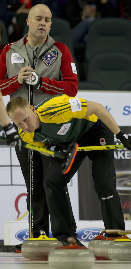 Russian skip Evgeny Arkhipov. (Photo, Curling Canada/Michael Burns)