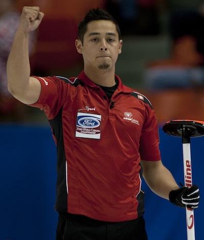 Team Switzerland skip Marc Pfister. (Photo, Curling Canada/Michael Burns)