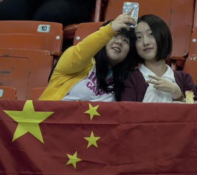2015, Halifax N.S. Ford Men's World Curling Championship. China Fans, Curling Canada/michael burns photo