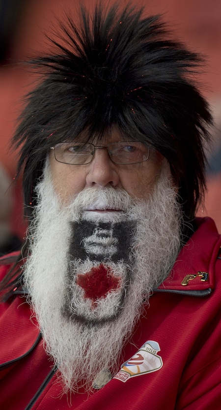 Leading contender for the Beard of the Year! Curling superfan Hans Madsen of Yorkton, Sask., is enjoying the 2016 Home Hardware Canada Cup. (Photo, Curling Canada/Michael Burns)
