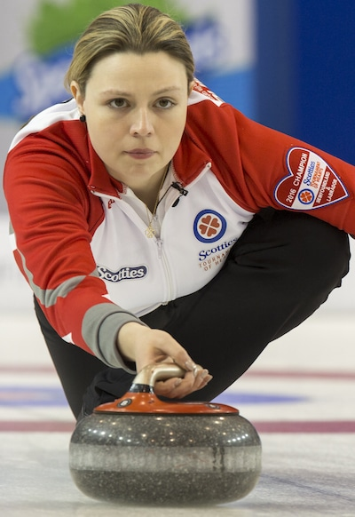 Newfoundland/Labrador skip Stacie Curtis enjoyed a two-win day on Wednesday. (Photo, Curling Canada/Andrew Klaver)