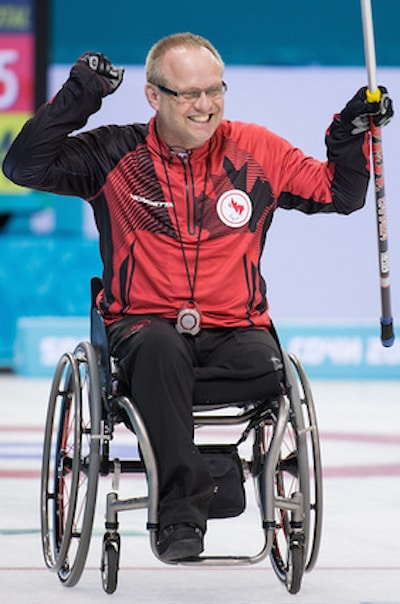 Manitoba's Dennis Thiessen won gold with Team Canada at the 2014 Winter Paralympics in Sochi. (Photo, Canadian Paralympic Committee)