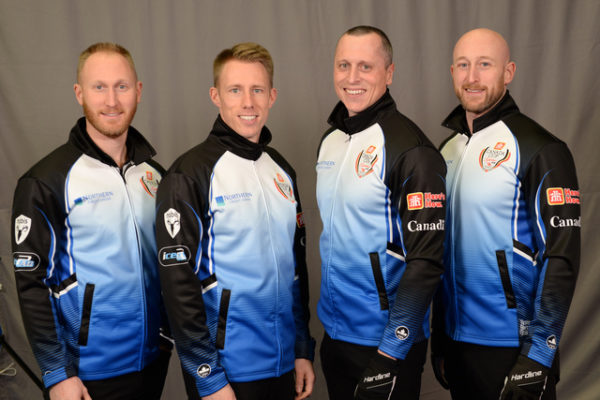 Home Hardware Canada Cup 2018TEAM JACOBS Community First Curling Centre, Sault Ste. Marie Skip: Brad Jacobs Third: Marc Kennedy Second: E.J. Harnden Lead: Ryan Harnden .    Curling Canada/michael burns photo