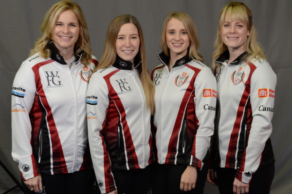 Home Hardward Canada Cup 2018TEAM JONES St. Vital Curling Club, Winnipeg Skip: Jennifer Jones Third: Kaitlyn Lawes Second: Jocelyn Peterman Lead: Dawn McEwen Curling Canada/ michael burns photo