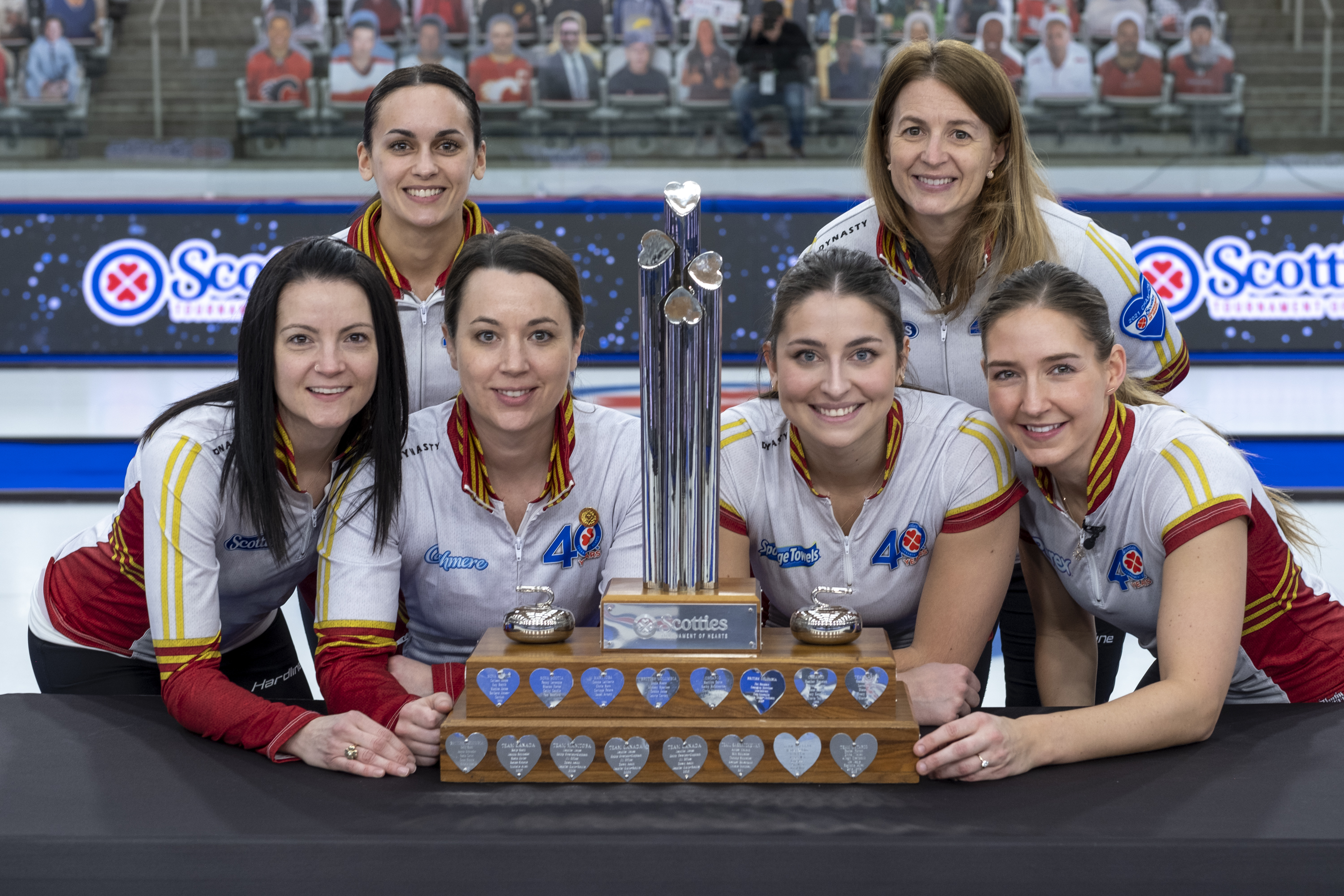 Photo of the 2020-21 Canadian women's curling team.