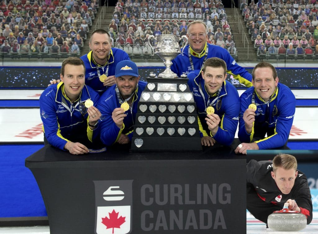 The Canadian Men's Curling Team for 2021.