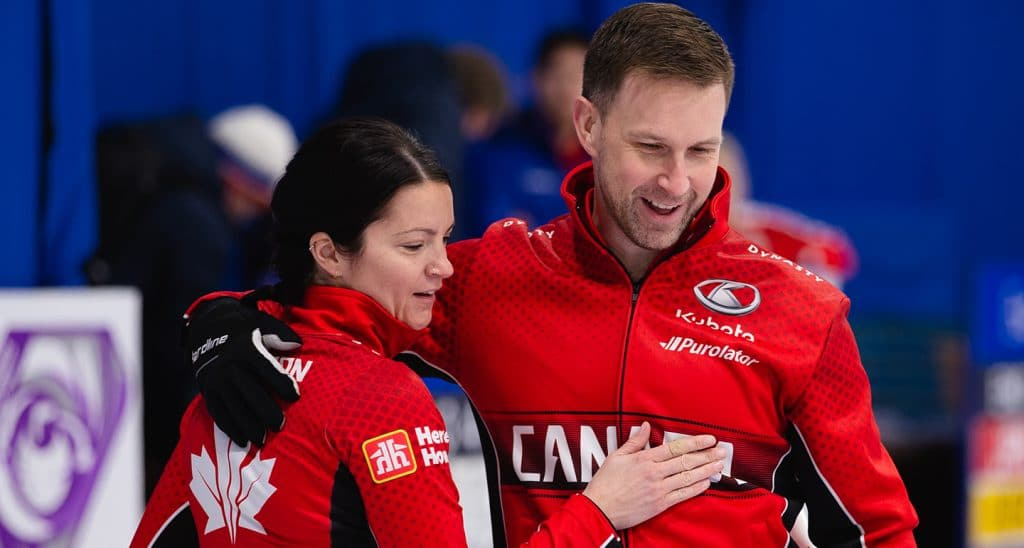 Curling Canada     Win by an inch!