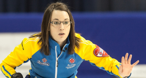 Alberta skip Val Sweeting in the championship game, 2014 Scotties Tournament of Hearts