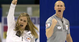Winnipeg Mb. Tim Hortons Roar of the Rings 2013.skip Jennifer Jones,CCA/michael burns photo