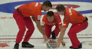 2014 Home Hardware Canada Cup of Curling, Camrose, Matt Wozniak, Mike McEwen, Denni Neufeld, CCA/michael burns photo