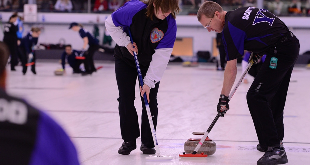 Wade Scoffin was part of team Yukon at the 2015 Canadian Mixed Curling Championship at North Bay, Ont. (CCA Photo)