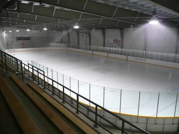 Molson Arena, partie du Stratford Rotary Complex, qui accueillera les Championnats canadiens de curling junior 2016.