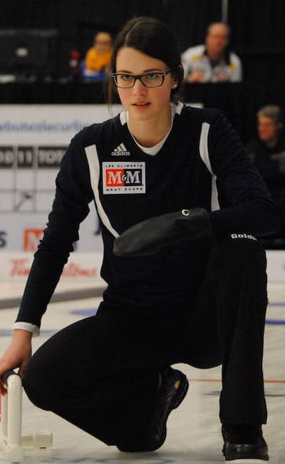 Nouvelle-Écosse capitaine Mary Fay a remporté son sixième match consécutif jeudi. (Photo, Amanda Rumboldt)