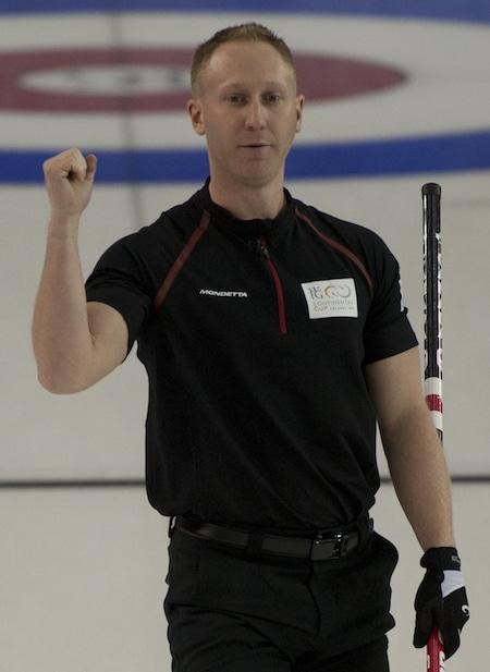 2015 World Financial Group Continental Cup Curling, Calgary AB, skip Brad Jacobs, CCA/michael burns photo