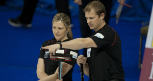 2015 World Financial Group Continental Cup Curling, Calgary AB, Carter Rycroft, Lori Olson-Johns, CCA/michael burns photo