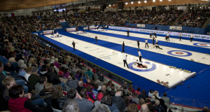 2015 World Financial Group Continental Cup Curling, Calgary AB, Crowds Overalls, CCA/michael burns photo