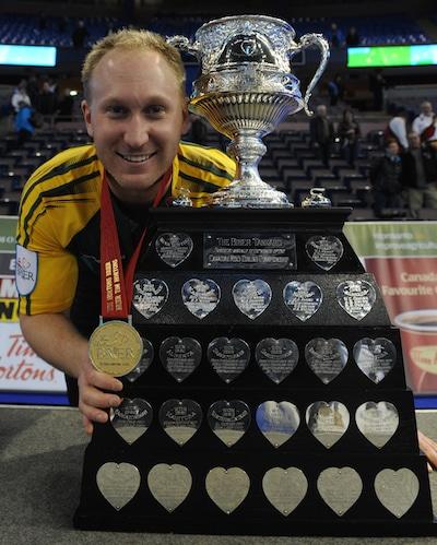 Brad Jacobs prendra but à son deuxième titre de Tim Hortons Brier à Calgary. (Photo, ACC / Michael Burns)