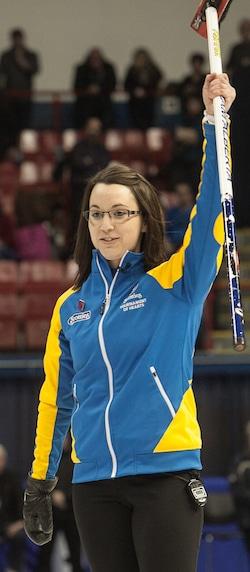 Val Sweeting de l'Alberta a terminé deuxième au Scotties de l'an dernier à Montréal. (Photo, ACC / Andrew Klaver)