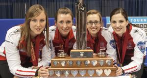 Trophey shot, Team Canada repeats2014 Scotties Tournament of Hearts
