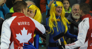 2015, Calgary Ab, Tim Hortons Brier, Team Canada skip John Morris, Curling Canada/michael burns photo