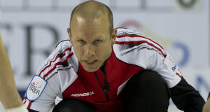 2015, Calgary Ab, Tim Hortons Brier, Team Canada third Pat Simmons, Curling Canada/michael burns photo