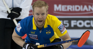 2015, Halifax N.S. Ford Men's World Curling Championship, Sweden skip Niklas Edin, Curling Canada/michael burns photo