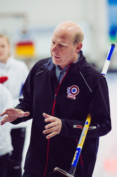 Kevin Martin coaches curlers during the pre-event Development Camp  (Detour Photography)