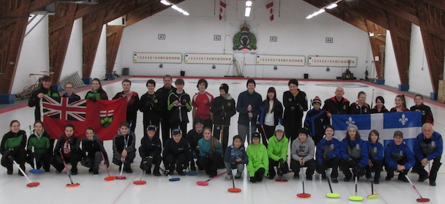 An interprovincial challenge provided the opportunity for Ontario teams from the OYCL to compete against curlers from Quebec (Photo Joe Pavia)